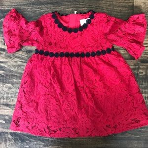 Kate Spade Red Lace 18 Month Dress